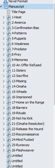 working chapter titles